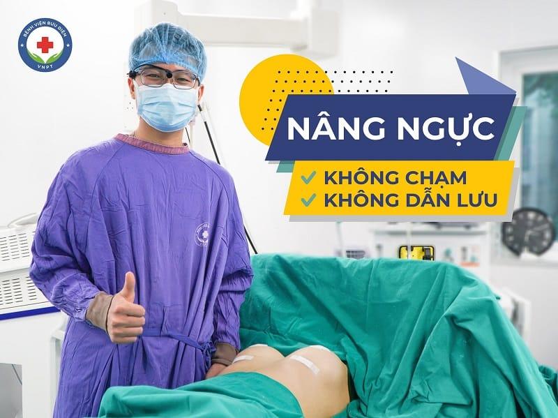 Nâng ngực hai không tức nâng ngực không chạm - không dẫn lưu tại Bệnh viện Bưu Điện
